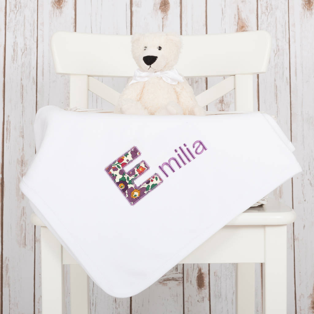 Personalised baby gift set with liberty of london by betty bramble personalised baby gift set with liberty of london negle Image collections
