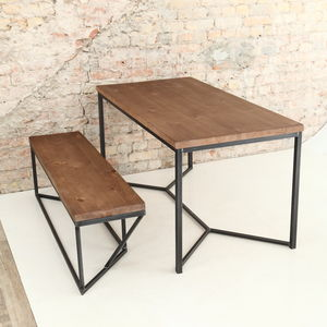 Solid Industrial Dining Table - dining tables