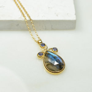 Nikita Necklace Labradorite Iolite - necklaces & pendants