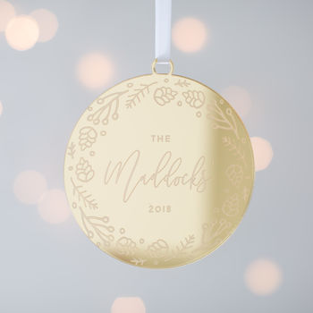Personalised Family Bauble