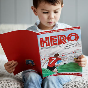 Personalised Football Comic Book Create Your Own - gifts for children