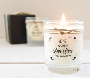 Personalised Scented Home Candle In Glass Pot - candles & home fragrance