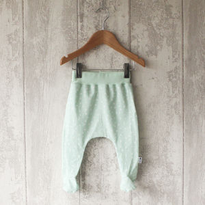 Mint Triangle Baby Footed Leggings - clothing
