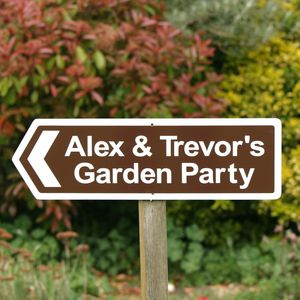 Personalised Garden Party Sign - decorative letters & signs