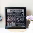 Personalised Infographic Engraved Print