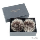 Truffle faux fur Shoe Clips