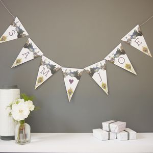 Bespoke Peacock Bird Bunting - new in wedding styling