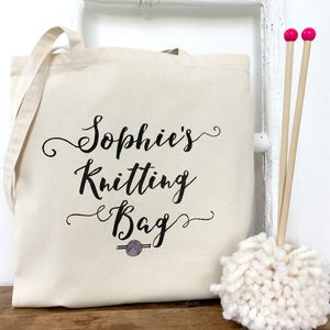 'Knitting Bag' Personalised Knitting Bag