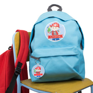 Personalised Pirate Children's Backpack School Bag