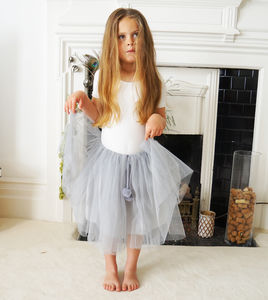Peaches Tulle Tutu ~ In Grey, Cream + Apricot - clothing