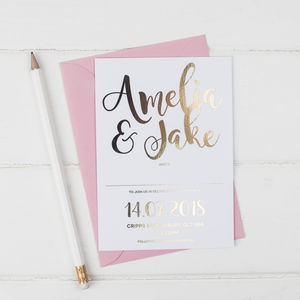 Gold Foil Wedding Invitation - new in wedding styling