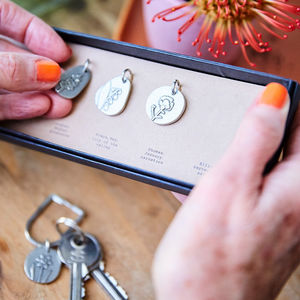 Personalised Family Birth Flowers Keyring - gifts for grandmothers
