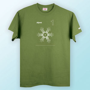 Men's Alpes One Moss Green T Shirt