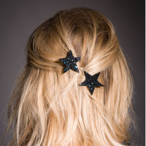 Glitter Star Bobby Pins Available In 30 Colours - hair accessories