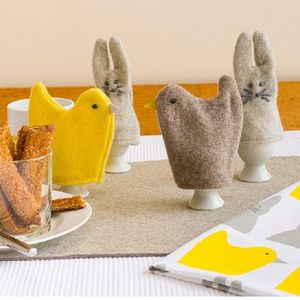 Knitted Rabbit Or Chick Egg Cosy - egg cups & cosies