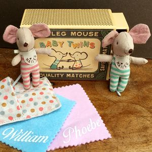 Baby Twins Match Box Mice - toys & games