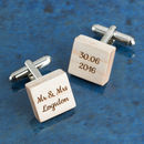 Personalised Wooden Square Cufflinks