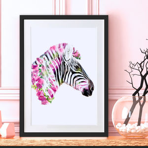 Zebra Wild Fine Art Print - animals & wildlife