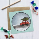 Driving Home For Christmas Illustrated Christmas Card