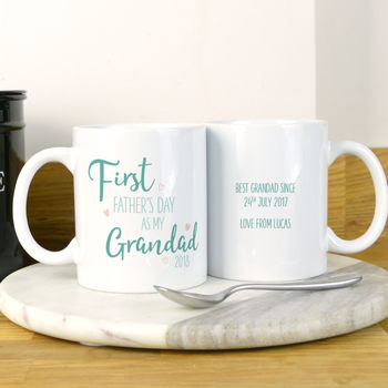 First Father's Day Mug For Grandad
