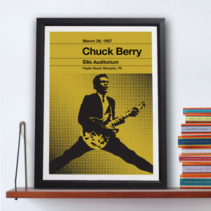 Chuck Berry Stereo Typist Chess Series Print