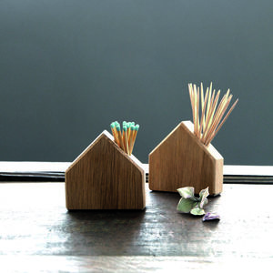 Oak House Match And Cocktail Stick Holder - home accessories