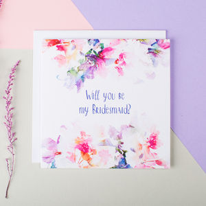 'Will You Be My Bridesmaid?' Card - wedding cards