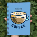 Latte Coffee Personalised Spiral Notebook