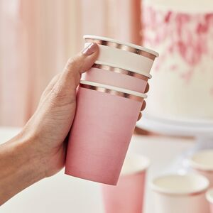 Ombre Pink Paper Cups