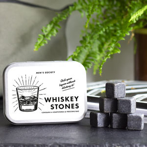 Six Volcanic Whiskey Cooling Stones - stocking fillers