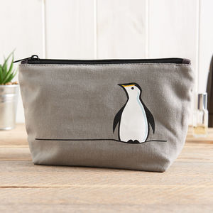 Penguin Zip Bag - make-up & wash bags
