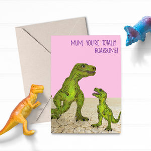 Dinosaur T Rex Cute Mothers Day Card