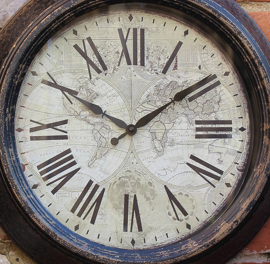 Outdoor Vintage Wall Clock By Blackdown Lifestyle