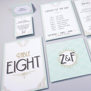 Table Plan, Numbers, Place Cards, Menus : Long Island