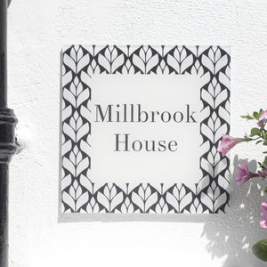 Personalised House Number Sign, Geometric Bud - sale by category