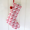 Red Reindeer Stocking