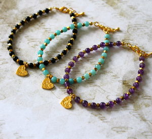 Children's 24ct Vermeil Gold Heart Charm Bracelet