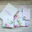 Mother Of The Bride Wedding Planning Stationery Set