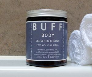 Buff Body Sea Salt Body Scrub Post Work Out Blend - skin care