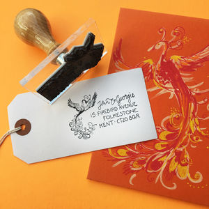 Personalised 'Firebird' Address Stamp
