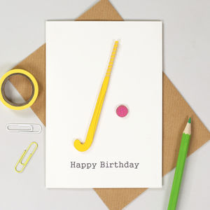 Personalised Hockey Sport Birthday Card - children's birthday cards