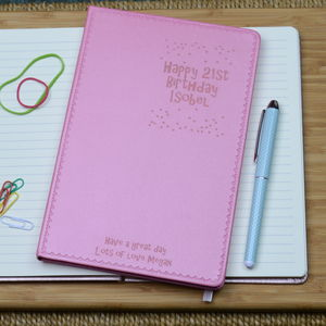 21st Birthday Personalised Notebook
