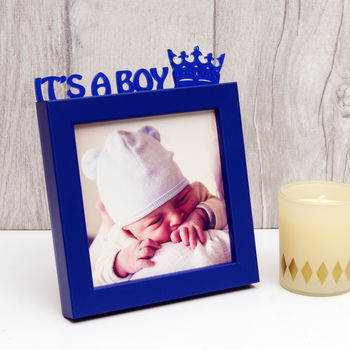 'It's A Boy!' Frame in Blue