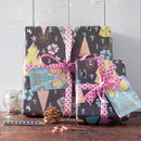 Christmas Tree Night Forest Gift Wrap Set