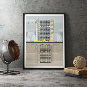 Trellick Tower Architectural Illustration Print - drawings & illustrations