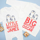 Personalised Big And Little Brother Sister Penguin Set