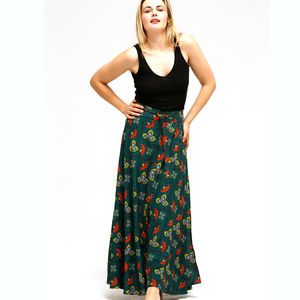 Flame Lily Bamboo Wrap Skirt