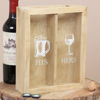 Personalised His And Hers Wine Cork Box