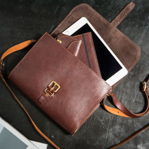 Baja Personalised Leather Handbag - satchels