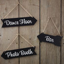 Vintage Style Chalkboard Arrow Decoration Signs